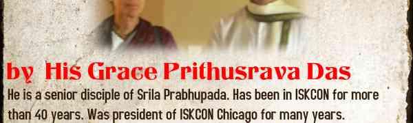 'When God tires being God!' -Lecture by HG Prithusrava Prabhu and HG Danakeli Mataji
