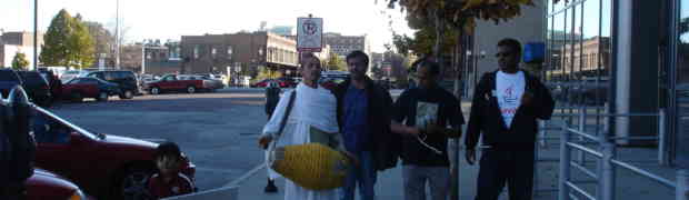 Photos- First Harinaam in Omaha Downtown in Jan 2007